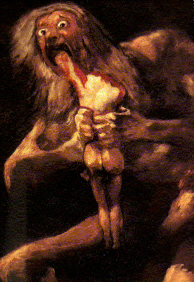 Francisco Goya, 'Saturn Devouring His Children'